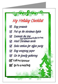 Christmas Greetings To My Sponsor.Cafepress Holiday And Christmas Cards By Recovery Greetings